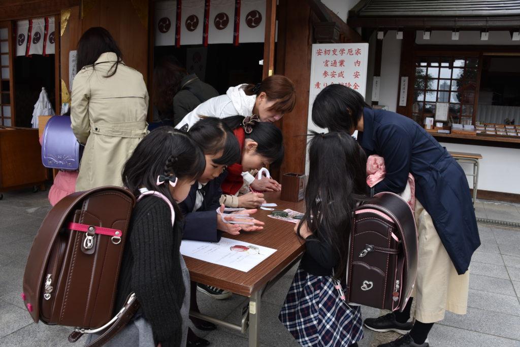 早稲田神社 勧学祭 受付